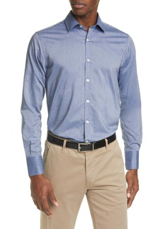 Canali Regular Fit Solid Button-Up Shirt