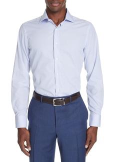 Canali Trim Fit Stripe Dress Shirt