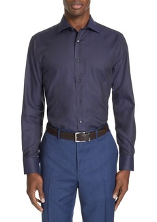 Canali Trim Fit Stripe Dress Shirt