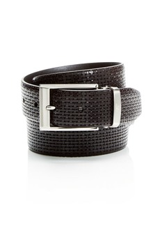 Canali Reversible Embossed Leather Belt
