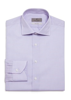 Canali Ribbon Check Regular Fit Dress Shirt