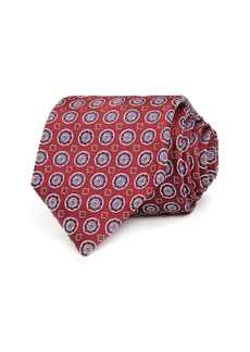Canali Round Medallion Silk Classic Tie