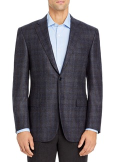 Canali Siena Brushed Plaid Classic Fit Sport Coat