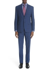 Canali Siena Classic Fit Plaid Wool Suit