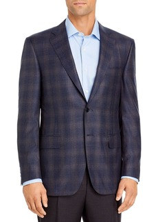 Canali Siena M�lange Plaid Classic Fit Sport Coat
