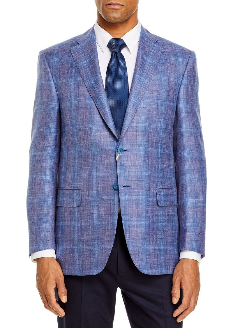 Canali Siena Plaid Classic Fit Sport Coat