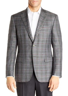 Canali Siena Plaid Classic Fit Sport Coat - 100% Exclusive