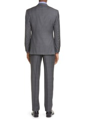 Canali Siena Soft Classic Fit Glen Plaid Wool Suit