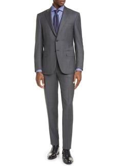 Canali Siena Soft Classic Fit Glen Plaid Wool Suit