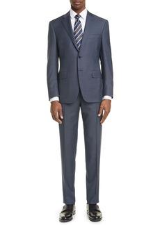 Canali Siena Soft Classic Fit Mélange Wool Suit