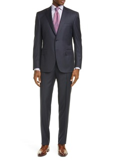 Canali Siena Soft Classic Fit Stripe Wool Suit