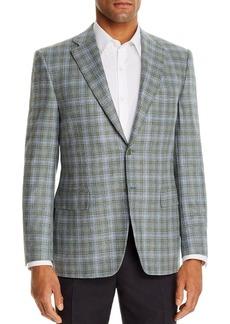 Canali Siena Textured Plaid Classic Fit Sport Coat