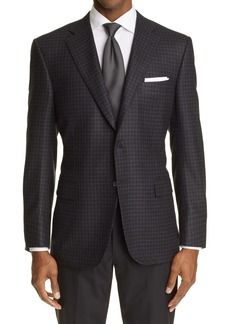 Canali Sienna Check Silk & Wool Sport Coat