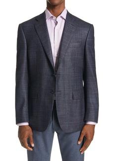 Canali Sienna Classic Fit Mélange Wool Blend Sport Coat