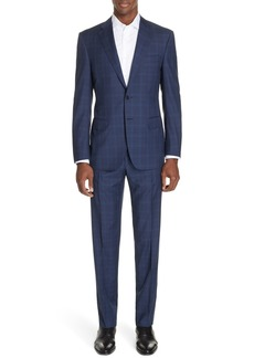Canali Sienna Classic Fit Plaid Wool Suit