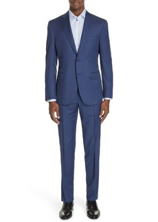 Canali Sienna Classic Fit Solid Wool Suit