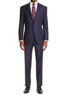 Canali Sienna Soft Jacquard Plaid Wool Suit