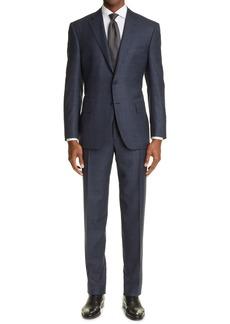 Canali Sienna Soft Windowpane Wool Suit