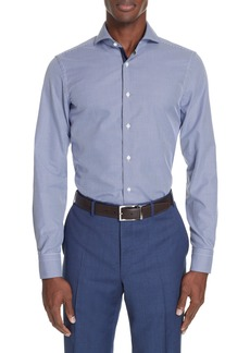 Canali Slim Fit Dot Dress Shirt