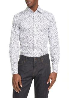 Canali Slim Fit Floral Dress Shirt