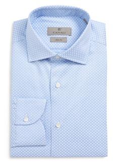 Canali Slim Fit Geometric Dress Shirt