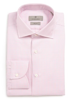 Canali Slim Fit Houndstooth Dress Shirt