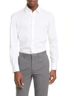 Canali Slim Fit Piqué Dress Shirt