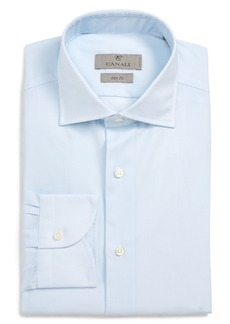 Canali Slim Fit Solid Dress Shirt