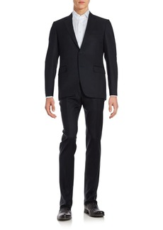 Canali Solid Lana Wool Suit
