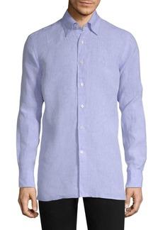 Canali Solid Linen Shirt