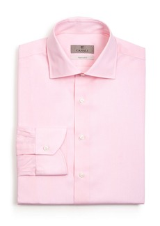 Canali Solid Regular Fit Dress Shirt