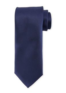 Canali Solid Repp-Striped Silk Tie
