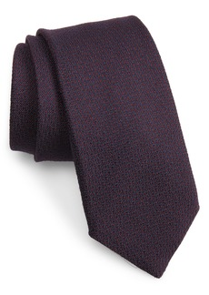 Canali Solid Wool & Silk Tie