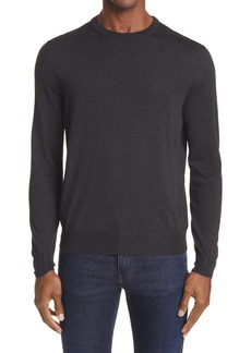 Canali Solid Wool Crewneck Sweater