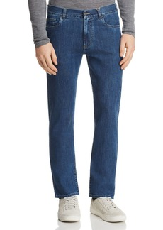 Canali Stretch New Straight Fit Jeans in Blue Denim