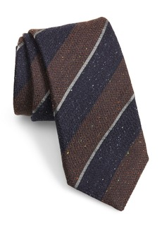 Canali Stripe Silk & Wool Tie