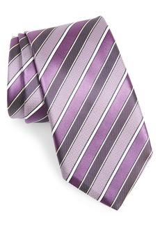 Canali Stripe Silk Tie