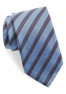 Canali Stripe Silk X-Long Tie