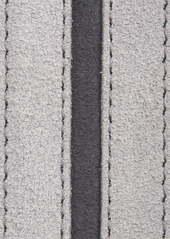 Canali Stripe Suede Belt