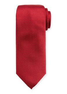 Canali Tonal Box-Pattern Silk Tie