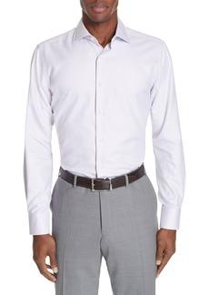 Canali Trim Fit Dot Dress Shirt