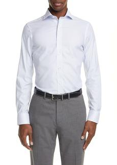 Canali Regular Fit Dot Print Non-Iron Dress Shirt