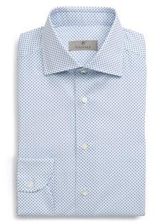 Canali Trim Fit Neat Print Dress Shirt