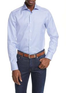 Canali Regular Fit Plaid Dress Shirt