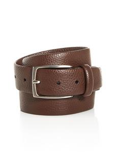 Canali Tubular Leather Belt
