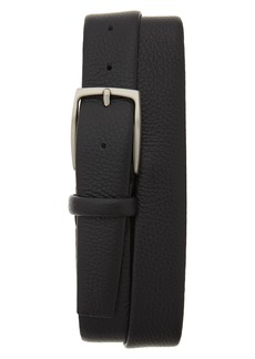 Canali Tubular Tumbled Leather Belt