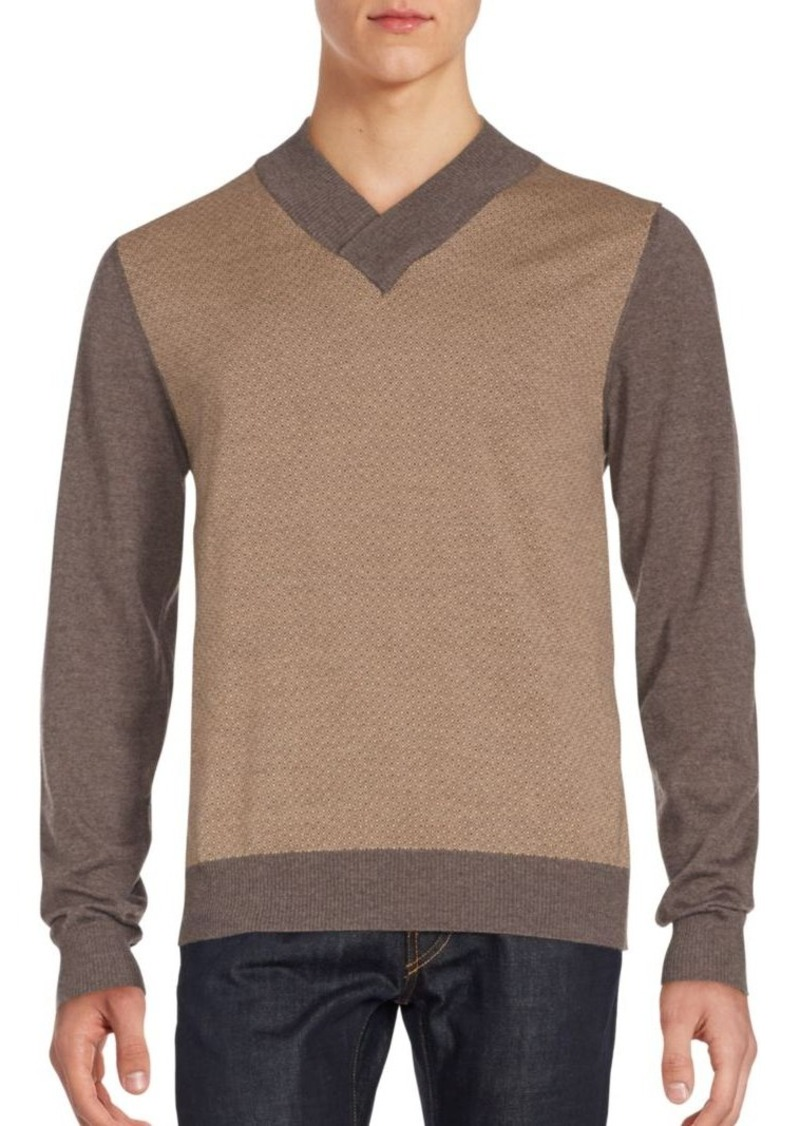 Canali Updated V-Neck Wool Sweater