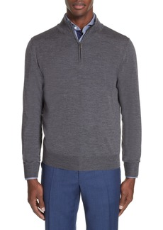 Canali Wool Quarter Zip Pullover