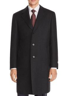 Canali Wool Twill Classic Overcoat