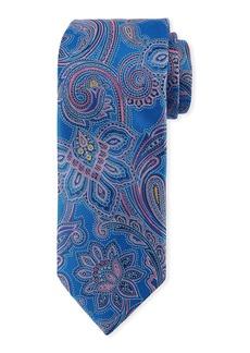 Canali Woven Paisley Silk Tie